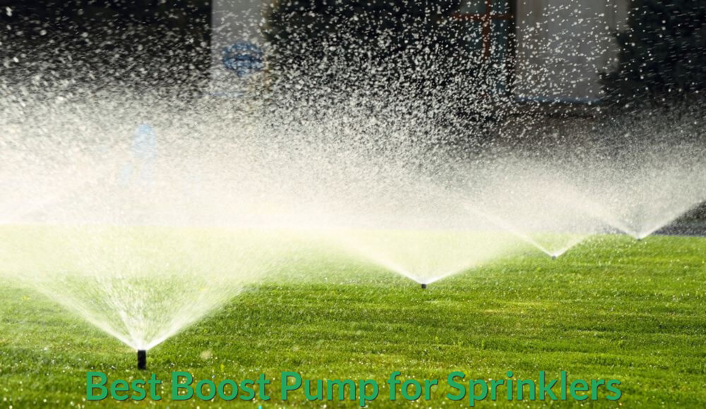 Lawn sprinklers' water pressure have been increased via booster pump.